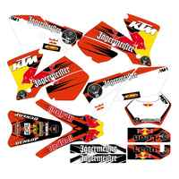 New Full Graphics Decals Stickers Custom Number Name 3M Matte Stickers Waterproof For KTM EXC Series 2004