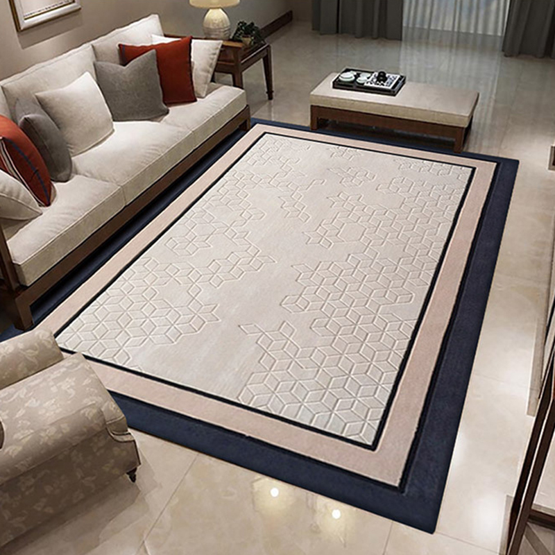 Modern 100% Wool Carpets For Living Room Simple Thick Area Rugs For Bedroom Rugs And Carpets Soft Tea Table Floor Mat