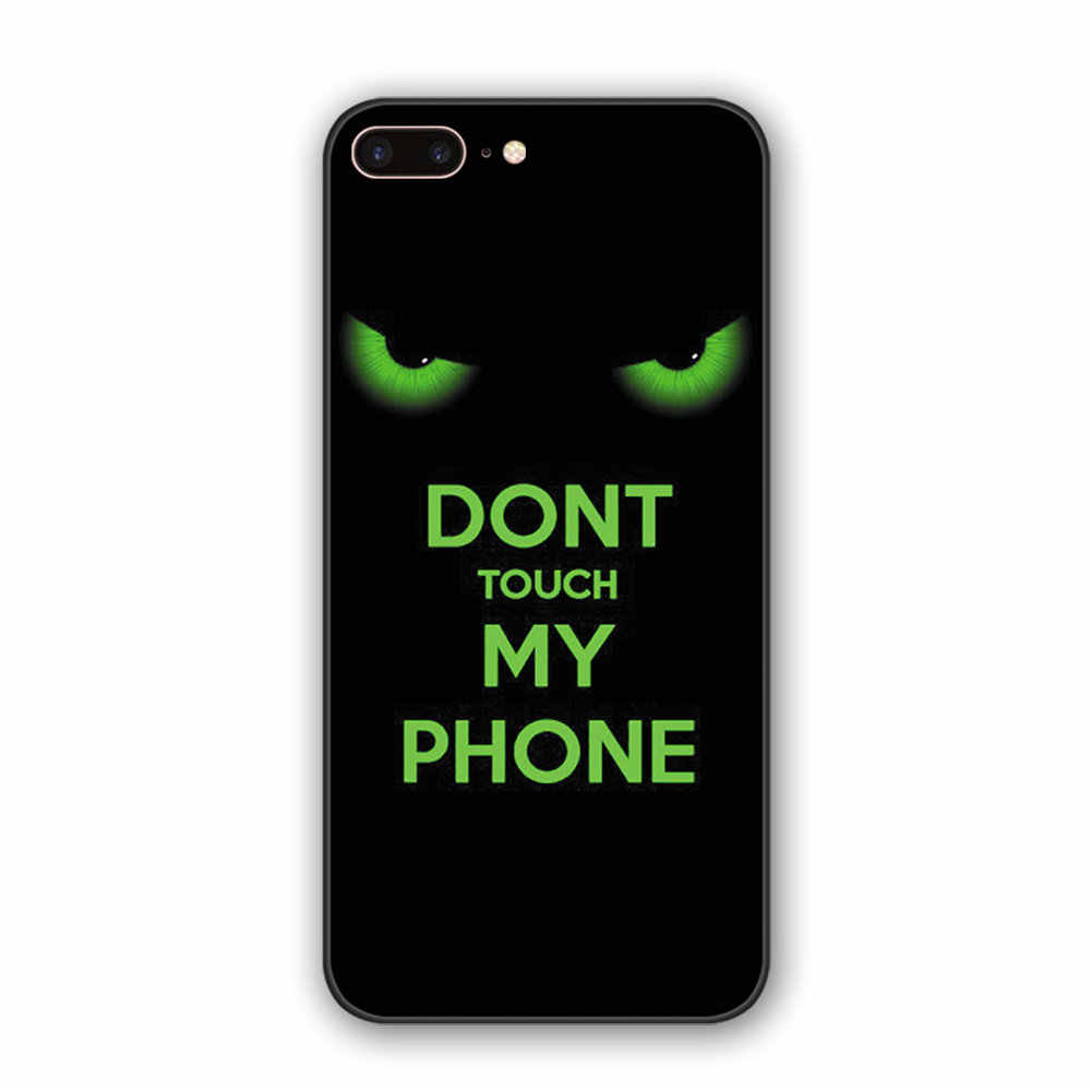Popular Letter Funny expression case For iphone5 5S SE 6 6S 7 8 back cover TPU silicone phone case For iphone X XS XR 11 Pro Max