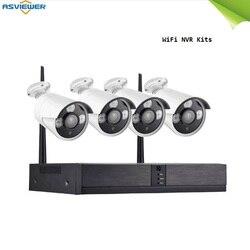 Zestawy nvr wifi System HD Outdoor IP66 zestaw kamerowy noktowizor widok aplikacji łatwo podłącz i graj w Systemy nadzoru od Bezpieczeństwo i ochrona na