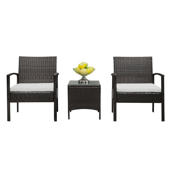 2pcs Arm Chairs 1pc Coffee Table Rattan Sofa Set Durable , Outdoor Furniture , Patio Furniture Patio Chairs Wicker Chair