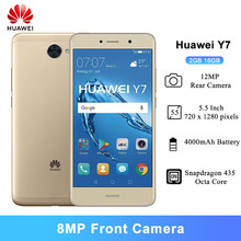 Huawei y7 smartphone 2gb 16gb 5.5 Polegada snapdragon 435 octa-core 12mp câmera traseira 4000mah bateria android 7.0 telefone móvel