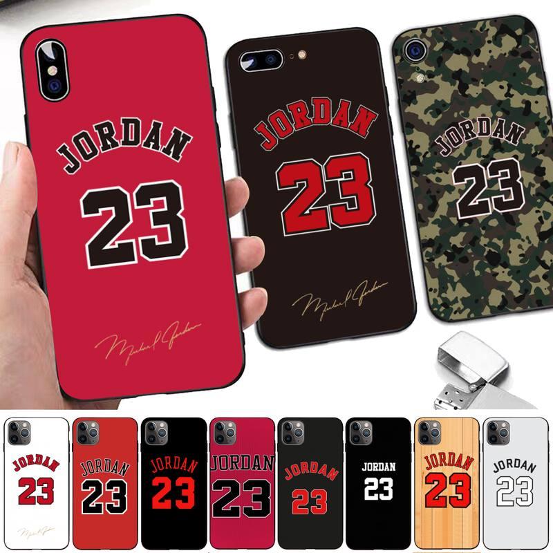 LVTLV Michael basketball 23 Jordan bumper Phone Case for iPhone 8 7 6 6S Plus X 5S SE 2020 XR 11 12 pro XS MAX