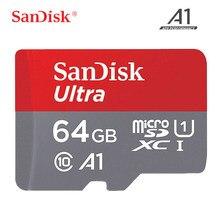 Sandisk cartão de memória micro sd, classe 10 tf 16gb 32gb 64gb 128gb até 100 cartao de memoria mb/s uitra c10 para samrtphone