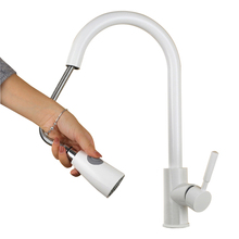 White Brass adjustable Kitchen Faucet accessories Cozinha Swivel Spout Sink Pull Out  basin Tap