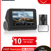 Car DVR Dash-Cam GPS A800 ADAS Parking-140fov Dual-Sight 70mai Front Rear 4K 24H 2160P