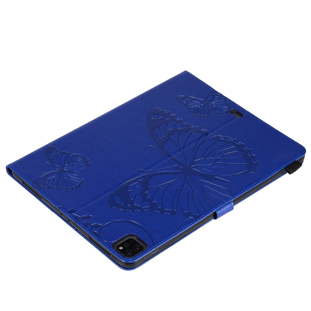 Cover 12.9 For Folding 2020 Tablet Butterfly Folio 2018 iPad Case Pro Embossed Fundas