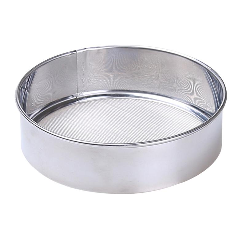 60 Mesh Flour Sifter 15cm Nontoxic Manual Durable Stainless Steel Powdered Sugar Duster Flour Sifter  for Kitchen