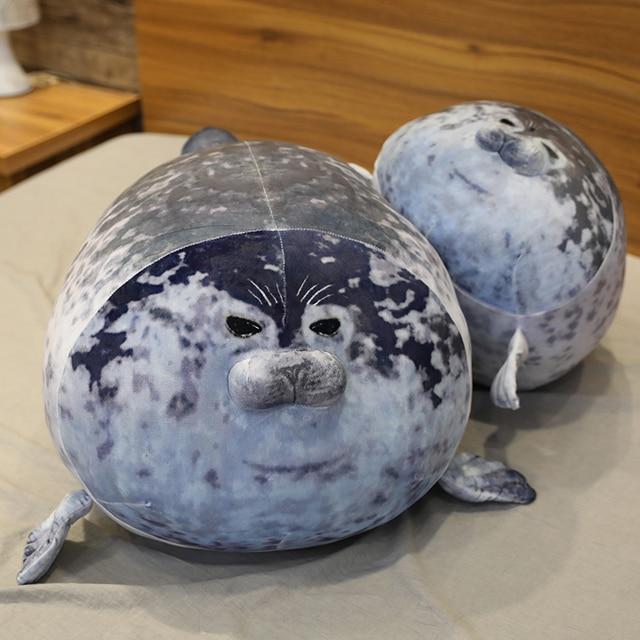 30~80cm New Seal Plush Toy Stuffed Aquatic Doll Kids Kawaii Plushie Comforting Ultra Soft Elatic Plush Girls Boys Gift 5 Sizes 2