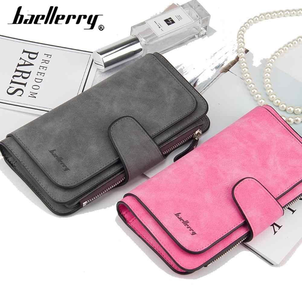 2020 moda kobiety portfele długi Top Quality nazwa grawerowanie posiadacz karty klasyczna torebka damska Zipper marka portfel dla kobiet