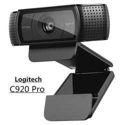 الأصلي لوجيتك C920 برو HD كاميرا ويب 1080P عريضة مكالمة فيديو وتسجيل كاميرا ويب للكمبيوتر ، C920 ترقية الإصدار