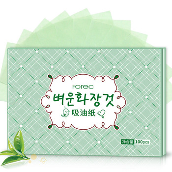 100PCS Protable Facial Absorbent Paper Oil Control Wipes Green Tea Absorbing Sheet Matcha Oily Summer Face Cleaning Tool 1