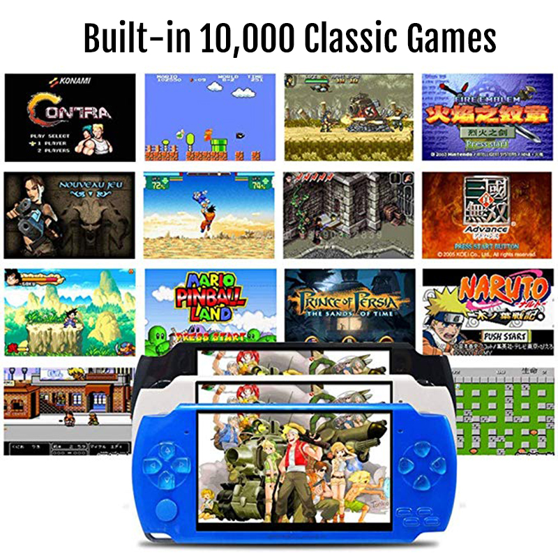 Image 5 - New Retro Game Console 4.3 inch In Built 8GB For PSP/MP4  Video/MP5/Camera/E book Portable Retro Game PlayerHandheld Game  Players