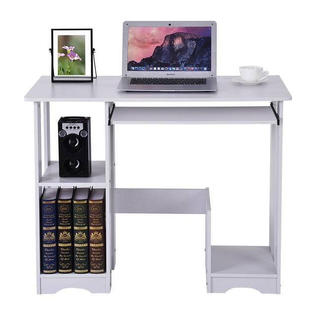 Home Computer Desk w/ Storage Shelves  5