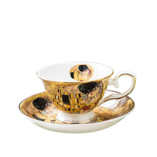 Klimt classic kiss design coffee cup and tea saucer ceramic & bone china coffee cup ceramic set klimt classic kiss design coffee cup and tea saucer ceramic