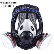 מלא פנים צבע גז מסכת הנשמה 6800 עם פחמן מסנן מחסנית 6800 מלא מגן מסכה