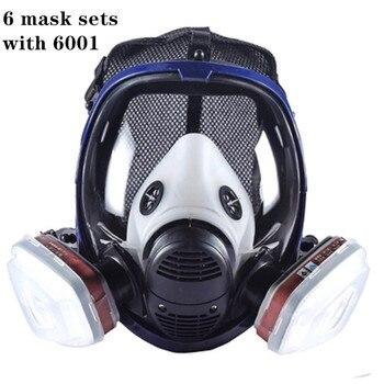 Volledige Gezicht Verf Gasmasker Masker 6800 Met Carbon Filter Cartridge 6800 Volledige Beschermende Masker