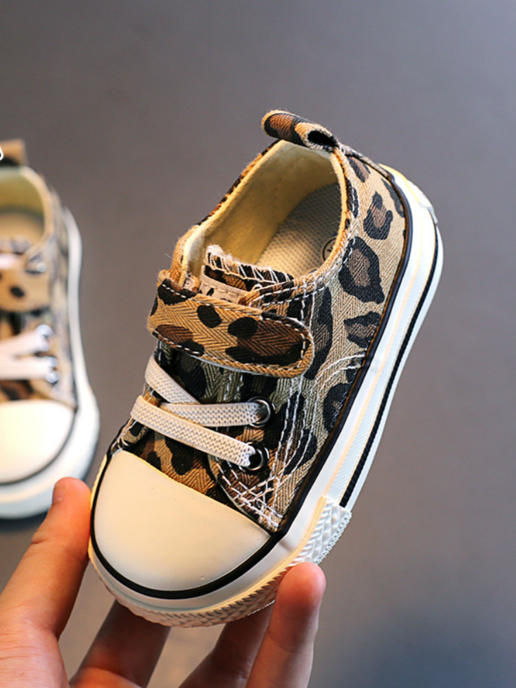 Babaya Canvas Shoes Leopard-Pattern Girls Fashion Children Autumn Casual Low-Cut Wild