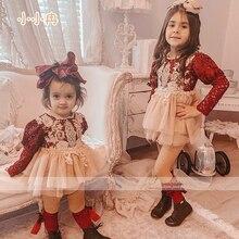 0-2Y headband Baby Lace Romper Autumn Baby Girl Full Sleeve Bodysuit Infant Nebworn Kids Jumpsuits  Sunsuits 0-24M