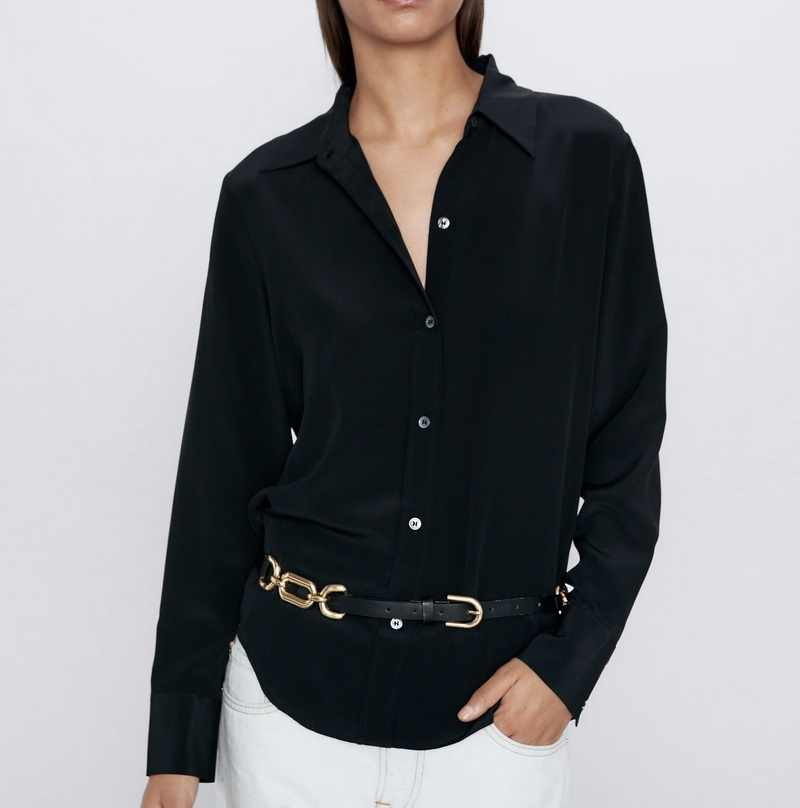 Women Blouse Shirt Spring 2020 New Fashion Long Sleeve Tops Modern Lady Black and White Shirts