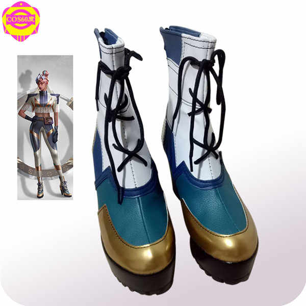 2019 New LOL True Damage Band Skin Qiyana Cosplay Shoes High heel platform Boots Unisex Customize free shipping