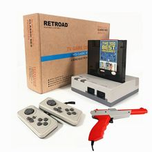 RETROAD 8Bit Classic Edition Gaming Console for 72P 60P Game Cartridge Retro Family Video Game System For Zapp Gun Duck shooting