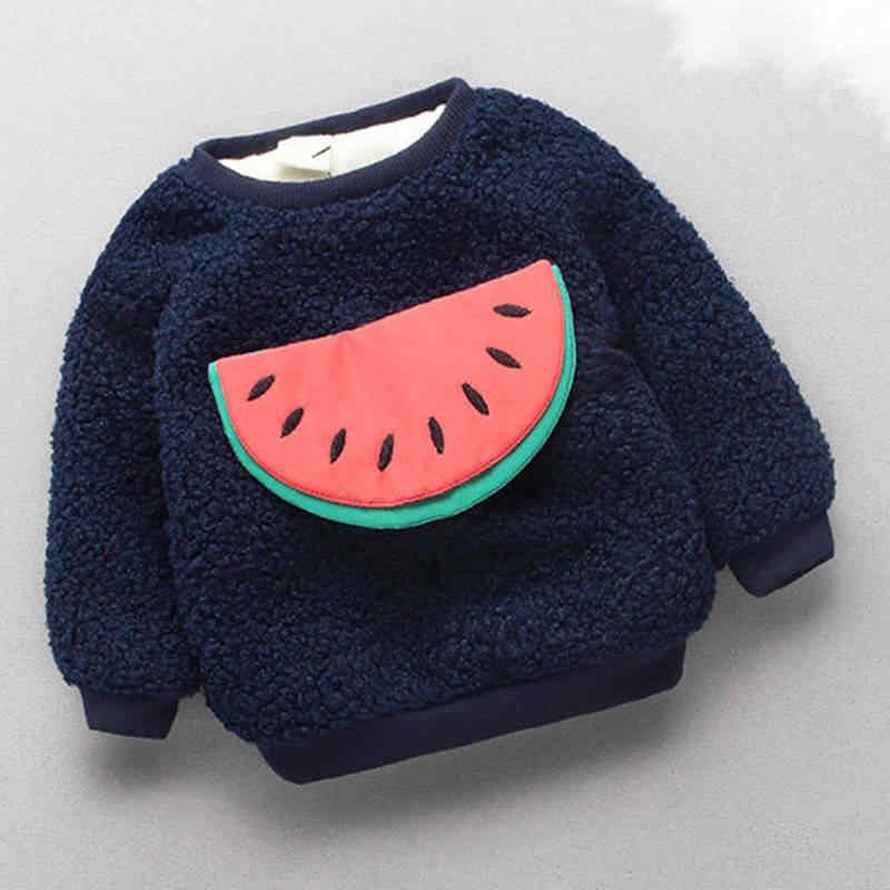 BibiCola dziecięce swetry dziewczynka chłopiec jesienno-zimowa ciepła kreskówka swetry moda gruby dorywczo aksamitny kostium dla dzieci ubrania świąteczne