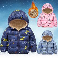 Jesienne zimowe ciepłe kurtki dla dziewczynek płaszcze dla chłopców kurtki Baby Girl kurtki dla dzieci kurtka z kapturem płaszcz ubrania dla dzieci палт tanie tanio Eillysevens COTTON Poliester CN (pochodzenie) Moda Cartoon REGULAR 0910 zipper Unisex Pasuje prawda na wymiar weź swój normalny rozmiar