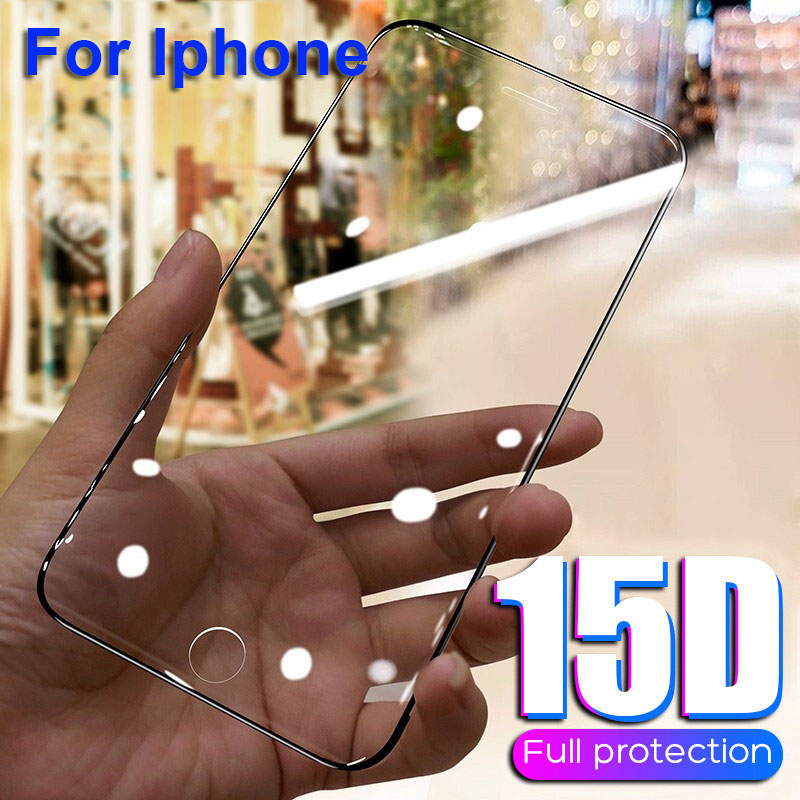 15D Tempered Glass Protector HD Film Glass Screen Protector IPhone 7 8 Plus X 11 11Pro Soft Edge Curved Film For IPhone XS MAX