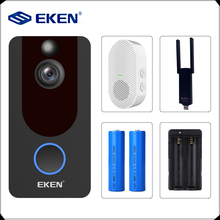 EKEN V7 1080P inteligentne WiFi dzwonek z kamerą wideo domofon wizyjny z dzwonkiem IP dzwonek bezprzewodowy bezpieczeństwo w domu kamera