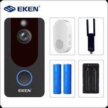 Eken V7 1080 スマート無線lanビデオドアベルカメラのvisualインターホンチャイムipドアベルワイヤレスホームセキュリティカメラ