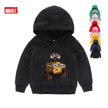 Wall-E Eve Robot Couple Cartoon Funny Hoodies Homme Jollypeach 2019 New Breathable Sweatshirts  Kids Long Sleeves 2T-8T