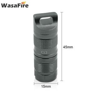 Image 2 - Süper küçük fener cep Mini LED el feneri USB şarj edilebilir taşınabilir su geçirmez beyaz işık anahtarlık Torch 10180 pil ile