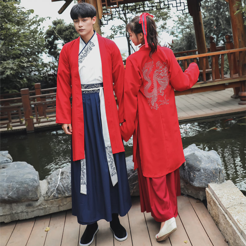 Hanfu Classical Dance Costume Chinese Traditional Festival Outfit Neutral Rave Performance Clothes Folk Stage Costumes DF1170