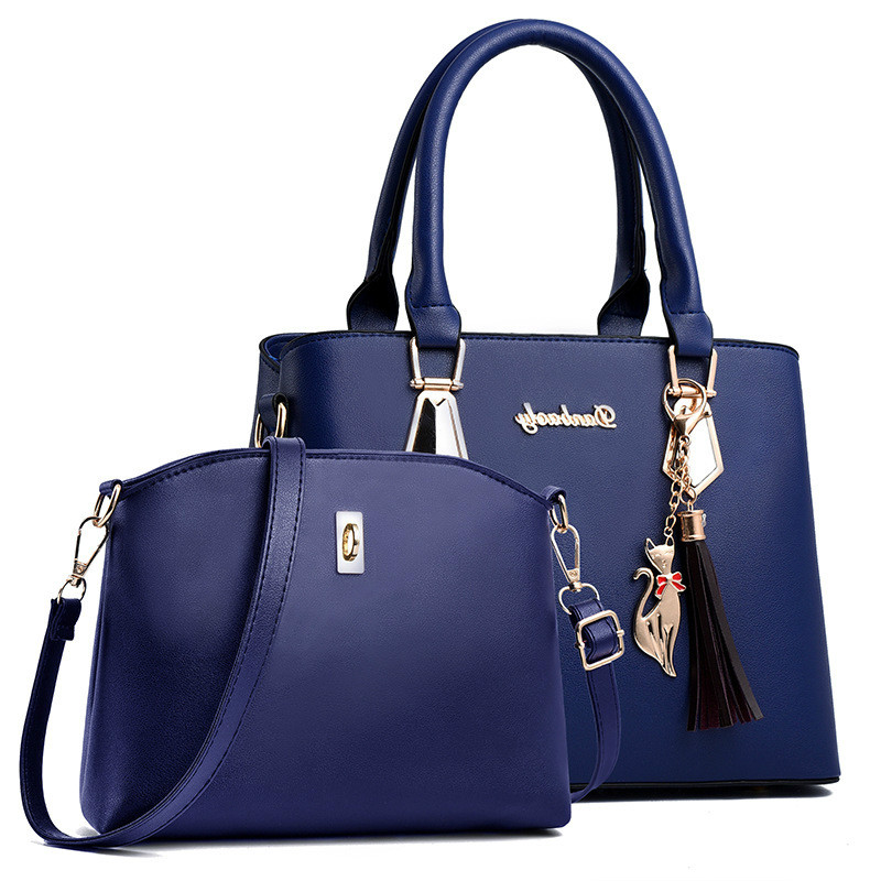 2pcs/set Women Handbags Fashion Casual Totes Luxury Handbags Designer Shoulder Bags New Bags For Women 2019 Composite Bag Bolsos