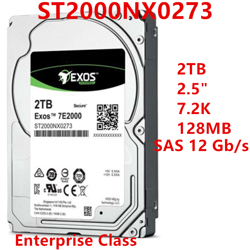 """New HDD For Seagate Brand 2TB 2.5"""" 7.2K SAS 12 Gb/s 128MB For Internal HDD For Enterprise Class HDD For ST2000NX0273 1"""