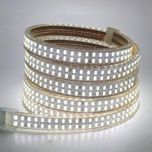 Image 5 - 5730 Bouble Row LED Light Strip 110V 220V 240Leds/m LED Strip Waterproof Ribbon Tape White/Warm White With EU/UK/US Switch Plug