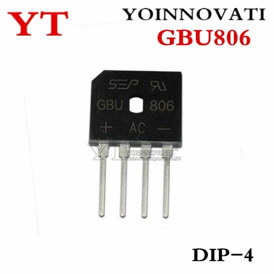 10pcs/lot GBU806 GBU 806 DIP-4 IC Best Quality
