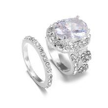 2 шт/все обручальные кольца с двойным кольцом женские вечерние