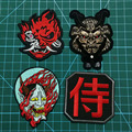 Японские нашивки самурая, значки с вышивкой, одежда для японского байкера, куртка, жилет, значки kanji в стиле милитари для мотоциклиста