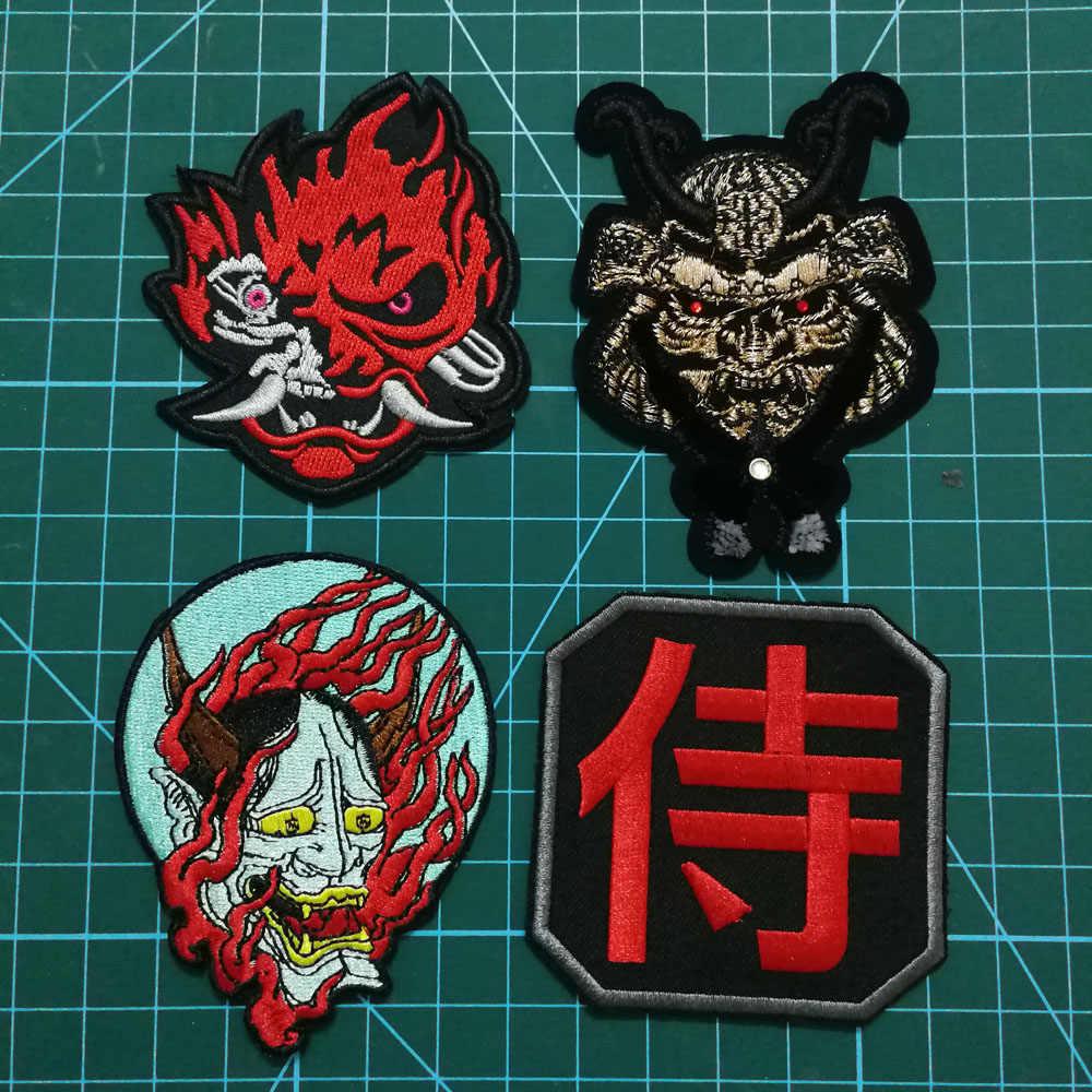 Japanse Samurai Patches Badges Van Geborduurde Japan Biker Rider Kledingstuk Jas Vest Kanji Militaire Motor Rider Badges