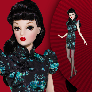 Image 2 - 1/6 30cm מגניב בובות סיני סגנון Cheongsam בובת מהדורה מוגבלת אוסף ניד גוף עם בגדי נשי אופנה בובת צעצוע