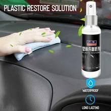 Peças plásticas automotivas painel de instrumentos de cera retreading agente interior plástico renovado acabamento automóvel pasta manutenção agen
