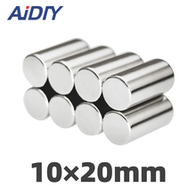 AIDIY 5/20/100 pcs 10x20mm permanent magnet small round super strong powerful rare earth magnets neodymium 10*20mm