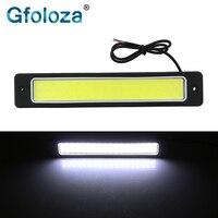 Gfoloza-luz LED para Interior de coche, luz de lectura en el maletero, COB diurno, Flexible, impermeable, blanca, 6500K, 190x35mm, 1 ud.