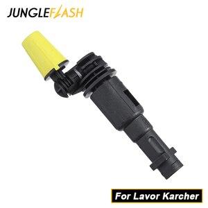 Image 1 - JUNGLEFLASH 360 Gimbaled Spin Nozzleเครื่องซักผ้าหัวฉีดสเปรย์เคล็ดลับJet LanceสำหรับLavorเครื่องฉีดน้ำKarcher K2 K7 Triggerปืน