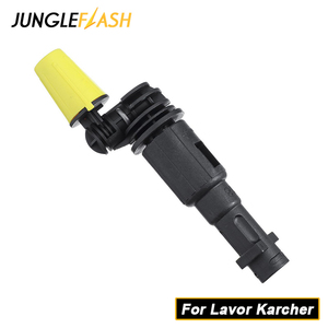 Image 1 - JUNGLEFLASH 360° Gimbaled Spin Nozzle Pressure Washer Spray Nozzle Tips Jet Water Gun Lance For Lavor Karcher K2 K7 Trigger Guns