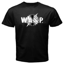 WASP W.A.S.P. Logo Rock Band Legend T-shirt Brand Cotton Men Clothing Male Slim Fit T Shirt Letter Top Tee(China)