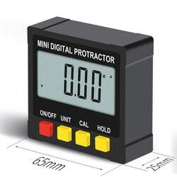 Mini cyfrowy pochyłomierza poziomu 360 stopni elektroniczny kątomierz kąt linijka pomiar miernik miernik Finder z magnesem w Kątomierze od Narzędzia na