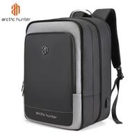 40L Large Capacity Mens Expandable Backpacks USB Charging Male 17 inch Laptop Bags Waterproof Business Travel Mochila Men